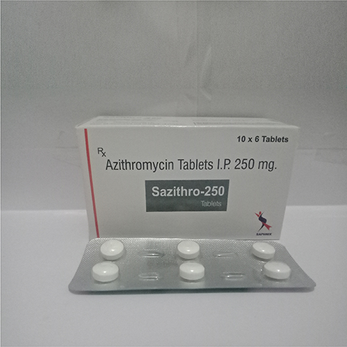 Azithromycin Tablets I.P. 250 mg.